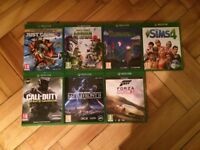 Xbox One Console With 7 Games and 1 Controller and Power Cable