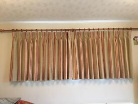2 sets of quality lined curtains, selling separately