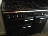 Rangemaster black Gas cooker 90cm....Mint Free Delivery