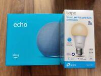 Echo 4th gen. smart home hub speaker alexa & TP-Link Tapo Smart Bulb Google NEW SEALED