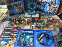 fOR SALE used PS4 Lego Dimensions and minifigures