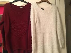 Selection of jumpers and tops