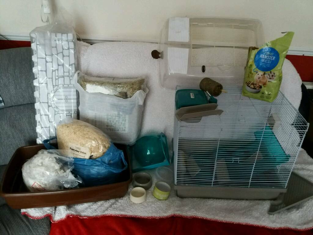 Hamsters cage and lot more.