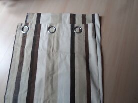 1 pair of stripe eyelet curtains