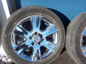 TWO  ONLY NOT FOUR .DODGE JOURNEY / GRAND CARAVAN  FACTORY OEM 19 INCH CHROME CLAD ALLOY WHEELS  IN GOOD CONDITION.