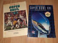 2 x vintage American football book / prog