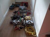 Electrical Power Tools Bundle 110V and 240v Drills ETC