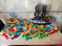 Jake and the neverland pirates and duplo bricks