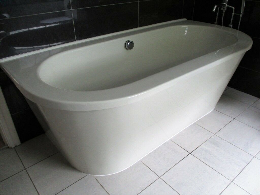 Back to wall double ended large contemporary bath tub | in Coalville ...
