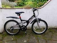 """Boys 20"""" ; Bike Apollo, age 7-9, full suspension"""