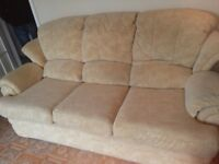 G PLAN Gold three seater settee. Excellent.