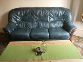 Real Leather - 3 Piece suite!