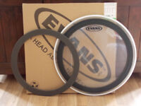 Evans 22'' Clear Emad Bass Drum Head, As New / Unused.