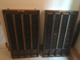 Vintage Clocking In and Out Wall Piece
