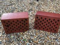 Reclaimed Victorian decorative air bricks