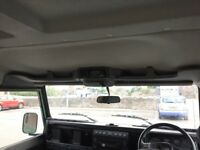 Defender roof console and cb radio