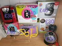 Coffee machines, Tassimo and dolce gusto