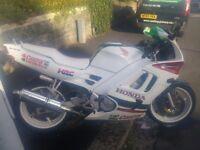 White Honda CBR 600 1995. Great 1st bike