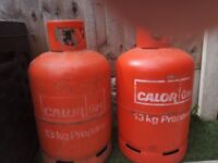 2 empty calor gas bottles 13 kg