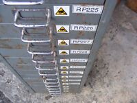 Vintage metal industrial drawers