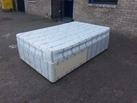 small double 3/4 (4 foot wide) 2 drawer divan bed base with matching clean 8 inch thick mattress