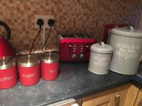 Red kitchen bundle set