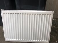 2 Single panel convector radiators white