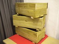 "WOODEN PLANTERS 3 OFF, 24"" (610mm) LONG."