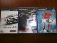 3 Games playstation 2,mahnut,footbal 2002,mcrally 5 £ set
