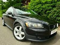 2008 VOLVO C30 D5 180 LUXURY BLACK *LEATHER* 6 SPEED FORD FOCUS