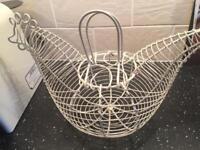 Hen egg basket