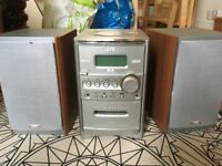 CD and casette player with DAB radio and speakers