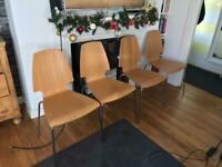 4 dining chairs (ikea vilmar)