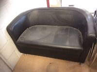 Leather chairs and sofa