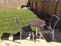 Patio set for 2