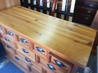 13 Drawer Pine Chest