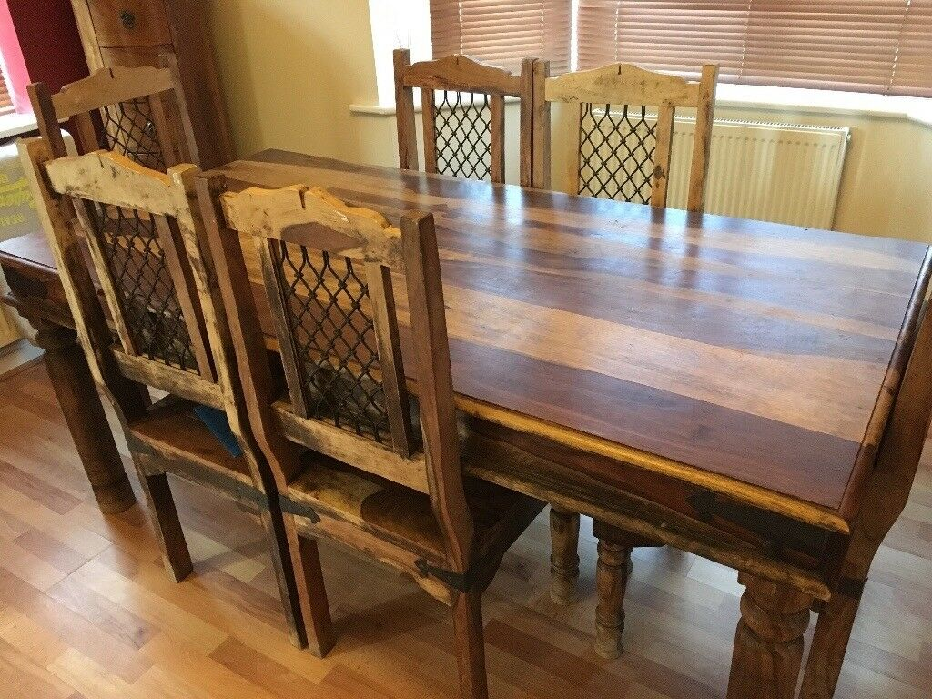 Solid Wood Dining Table Dresser And Tall Drawers