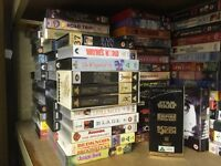 Over 300 pre-owned VHS films.