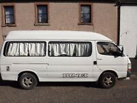 Rinei converted 8 seater Toyota Hiace 2.8 litre turbo diesel campervan (4 berth) very low mileage