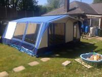 Large 6berth canvas frame tent