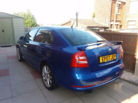 Skoda octavia vrs 2.0tfsi in the blue colour very clean with all extras