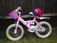 """Girls 14"""" bike with stabilisers"""