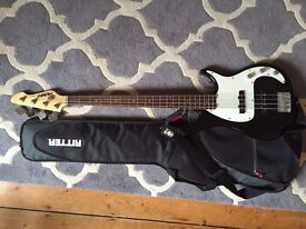 Peavey Bass Guitar with Case - Good Condition - NR2 - Bought new for £200