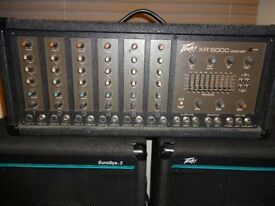 Peavey PA Amplifier XR600C Good condition ideal for small gigs or practice rooms.