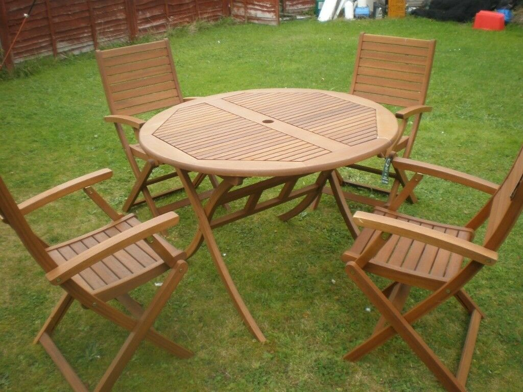 Garden furniture / Patio Hardwood furniture new table & caver Chairs