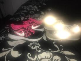 2 pairs of trainers