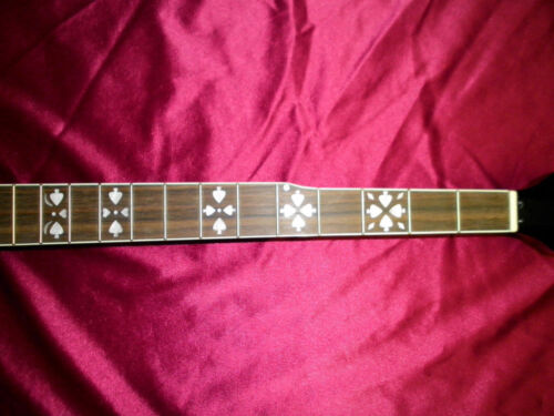 5-String Banjo Neck With (Fancy Inlays) Bound neck and Heal