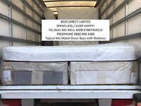 New, Super-Kingsize (180x200cm) Silentnight Drawer Divan Bed & Mattress. Free Delivery.