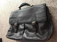 John Lewis leather laptop bag