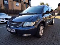 CHRYSLER GRAND VOYAGER 2.5 CRD DIESEL XS LIMITED EDITION MANUAL , 118000 MILES ,FULL SERVICE HISTORY
